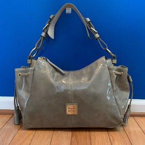 Dooney & Bourke Taupe Patent Leather Satchel